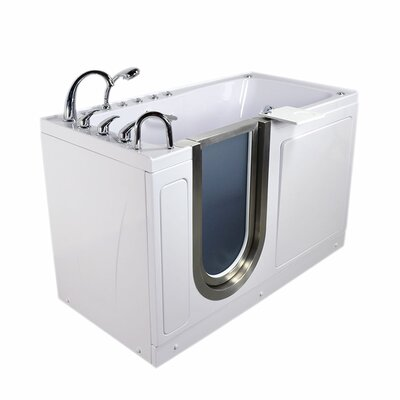 Ultimate 60 x 30 x 38 Sliding Door Walk-In Bathtub Drain Location: Left