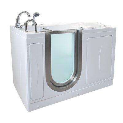 Elite 52.25 x 29.75 Walk-In Bathtub Drain Location: Left