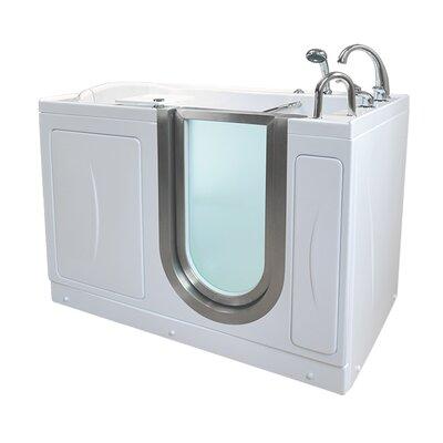 Elite 52.25 x 29.75 Walk-In Bathtub Drain Location: Right