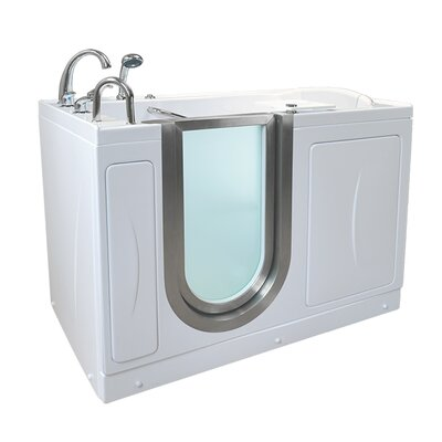 Petite 52.25 x 29.75 Walk-In Bathtub Drain Location: Left