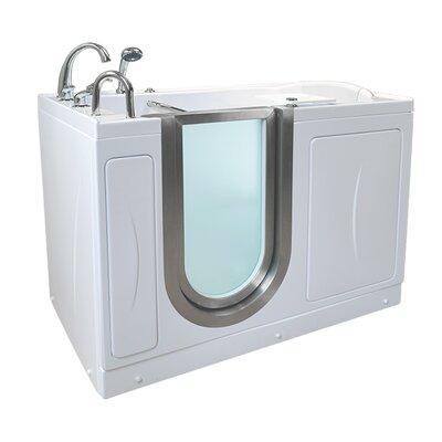 Petite 52.25 x 29.75 Walk-In Bathtub Drain Location: Left