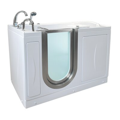 Elite 52.25 x 29.75 Walk-In Bathtub Drain Location: Left