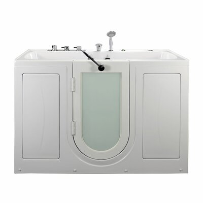 Tub4Two Two Seat Outward Swing Door Hydro Massage 60 x 31.75 Walk in Bathtub