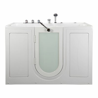 Tub4Two Two Seat Outward Swing Door with Huntington Brass Faucet Hydro Massage 60 x 31.75 Walk in Bathtub