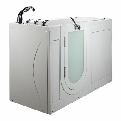 Lounger Outward Swing Door with Huntington Brass Faucet Hydro Massage 59 x 26.75 Walk in Bathtub