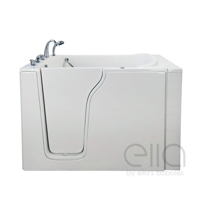 Bariatric 33 54.25 x 40 Whirlpool and Air Massage Walk In Bathtub Drain Location: Left Hand