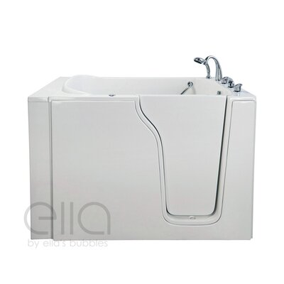 Bariatric 33 54.25 x 40 Whirlpool and Air Massage Walk In Bathtub Drain Location: Right Hand