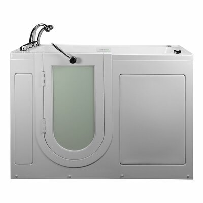 Lounger Acrylic 59 x 26.75 Walk-In Whirlpool and Air Tub Drain Location: Left