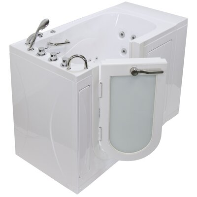 Malibu 29.5x52 Walk In Whirlpool Bathtub Drain Location: Left