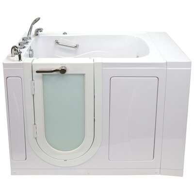 Monaco Hydro Massage and Microbubble 52 x 32 Walk in Whirlpool Bathtub with Thermo Faucet Set
