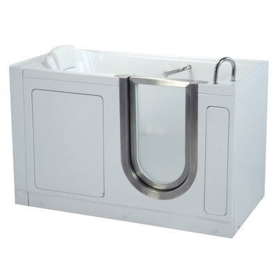 55 x 30 Deluxe Soaking Walk In Tub Door and Drain Location: Left