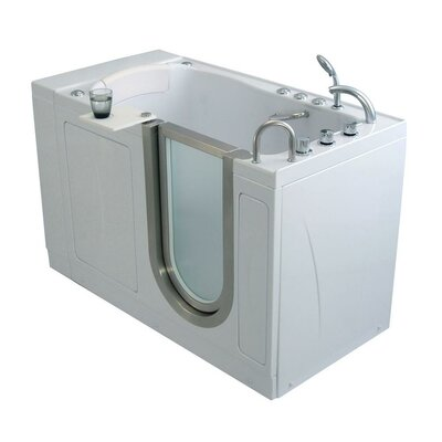 Elite Acrylic 30 x 52 Walk in Air Bathtub Type: Air