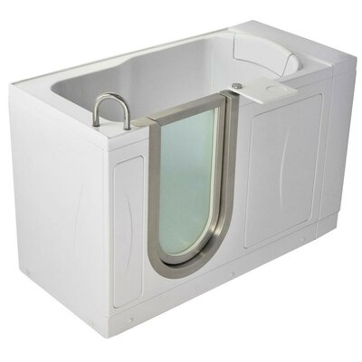 52 x 28 Petite Soaking Walk In Tub Door and Drain Location: Left