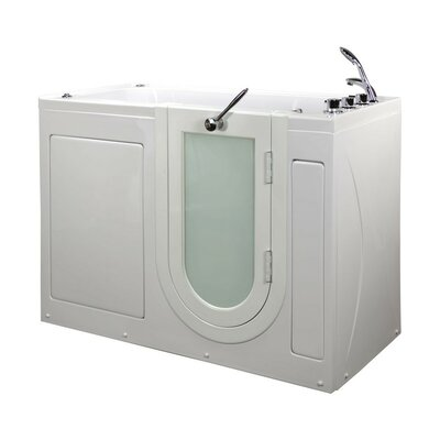 Lounger 59 x 26.75 Walk-In Whirlpool Tub Drain Location: Right
