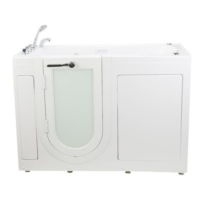 Lounger 59 x 26.75 Walk-In Whirlpool and Air Tub Drain Location: Left