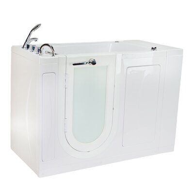Malibu Air and Hydro Massage 30 x 52 Walk in Air/Whirlpool Bathtub Drain Location: Left
