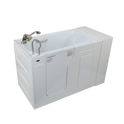Fully Loaded Acrylic Dual Massage 29.5 x 51 Walk In Air/Whirlpool Drain Location: Left