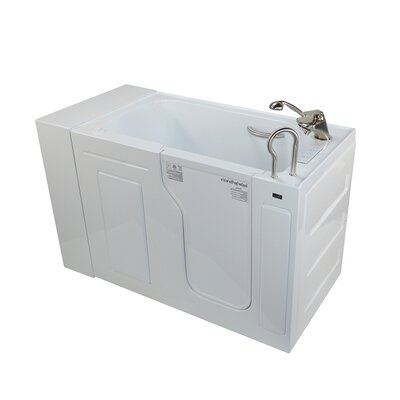 Fully Loaded Acrylic Dual Massage 29.5 x 51 Walk In Air/Whirlpool Drain Location: Right