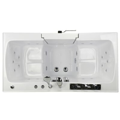 Tub4Two Hydro and MicroBubble Massage 31.75 x 60 Walk-in Whirlpool