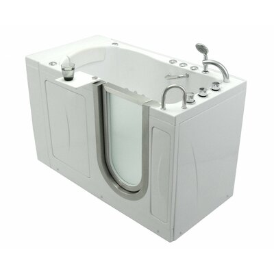 52 x 30 Elite Massage Whirlpool Walk In Tub Door and Drain Location: Right