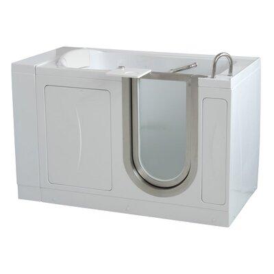 Elite 52 x 30 Soaking Walk In Tub Door and Drain Location: Left