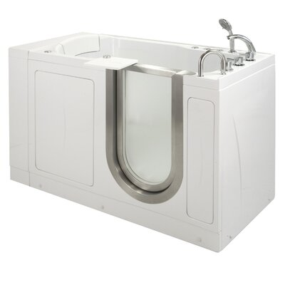 52 x 28 Petite Massage Whirlpool Walk In Tub Door and Drain Location: Right