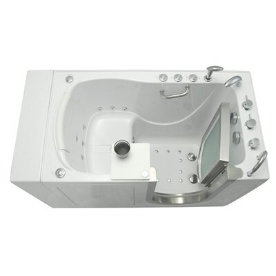 Royal 52 x 32 Massage Whirlpool Walk In Tub Door and Drain Location: Left