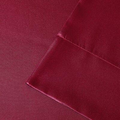 Premier Comfort Solid Satin Sheet Set - Size: King, Color: Red