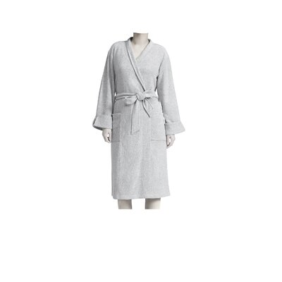 Heathered Rayon Blend Wrap Robe Color: Heather Gray, Size: Large/X-Large