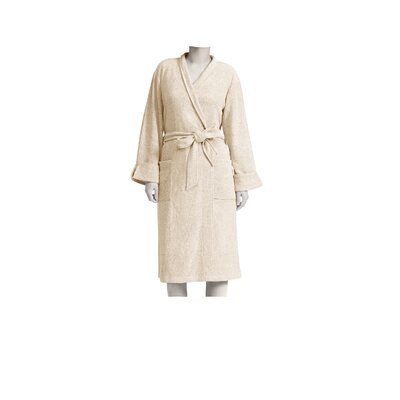 Heathered Rayon Blend Wrap Robe Size: Small/Medium, Color: Heather Khaki