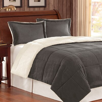 Jackson Comforter Set Color: Gray, Size: Twin