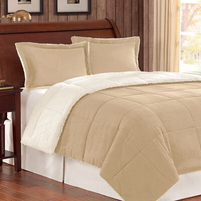 Jackson Comforter Set Color: Tan, Size: Twin
