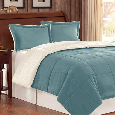 Jackson Comforter Set Size: Full/ Queen, Color: Blue