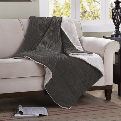 Jackson Corduroy Throw Color: Gray