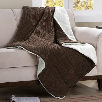 Jackson Corduroy Throw Color: Brown
