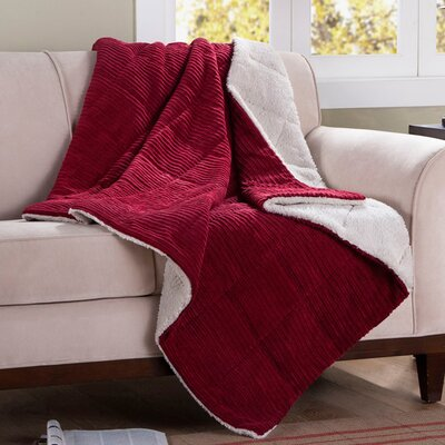 Jackson Corduroy Throw Color: Red