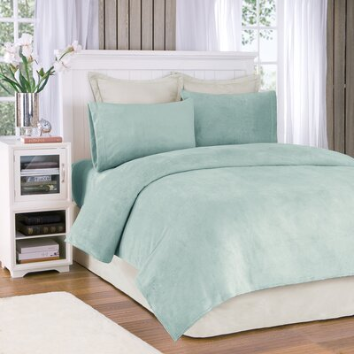 Plush Sheet Set Size: Full, Color: Sterling