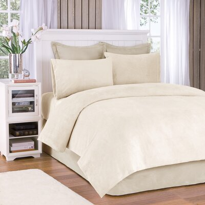 Plush Sheet Set Size: Twin, Color: Cream