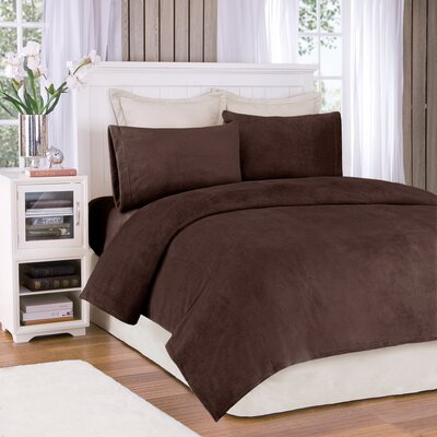 Plush Sheet Set Size: Full, Color: Mink