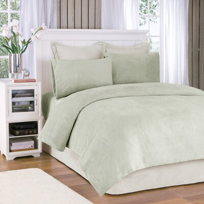 Plush Sheet Set Size: Twin, Color: Sage