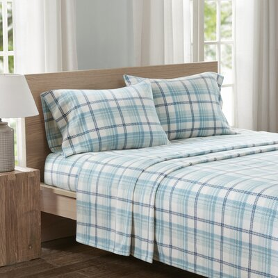 Abingdon Sheet Set Size: King, Color: Aqua