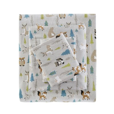 Balictar Cozy Printed 100% Cotton Sheet Set Size: Twin