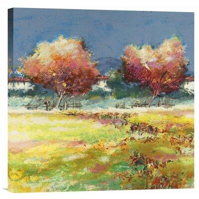 'Alberi Nel Prato' by Luigi Florio Painting Print on Wrapped Canvas