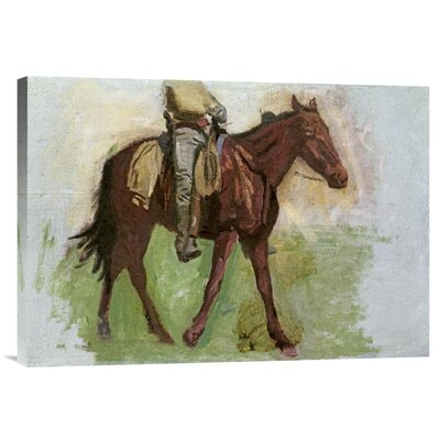 'Sketch For Cowboys in The Badlands' by Thomas Eakins Painting Print on Wrapped Canvas