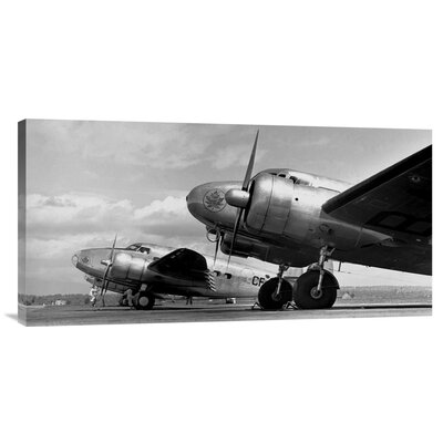 'Airplanes Lineup, 1936' by Gordon S. Williams Photographic Print on Wrapped Canvas