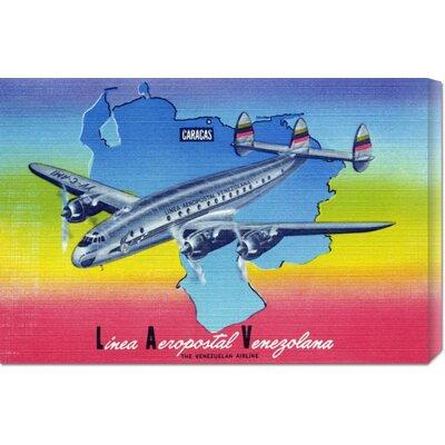 'Linea Aeropostal Venezolana; The Venezuelan Airline' by Retro Travel Vintage Advertisement on Wrapped Canvas
