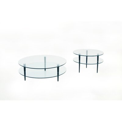Saturn Coffee Table Set with Wooden Legs