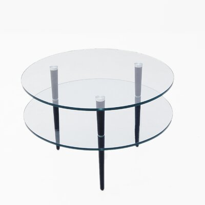 Saturn End Table with Wooden Legs