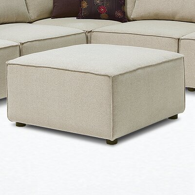 Louis Ottoman Upholstery: Harlow Grey