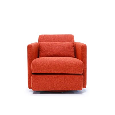 Veronica Swivel Arm Chair Color: Fullerton Burnout